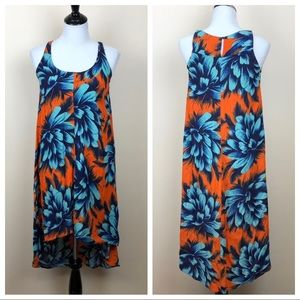 Maeve Sunset Hibiscus high low dress size 0